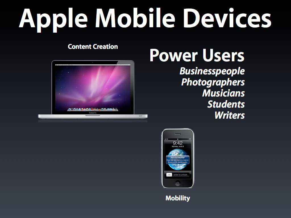 Apple Mobile Devices for Power Users