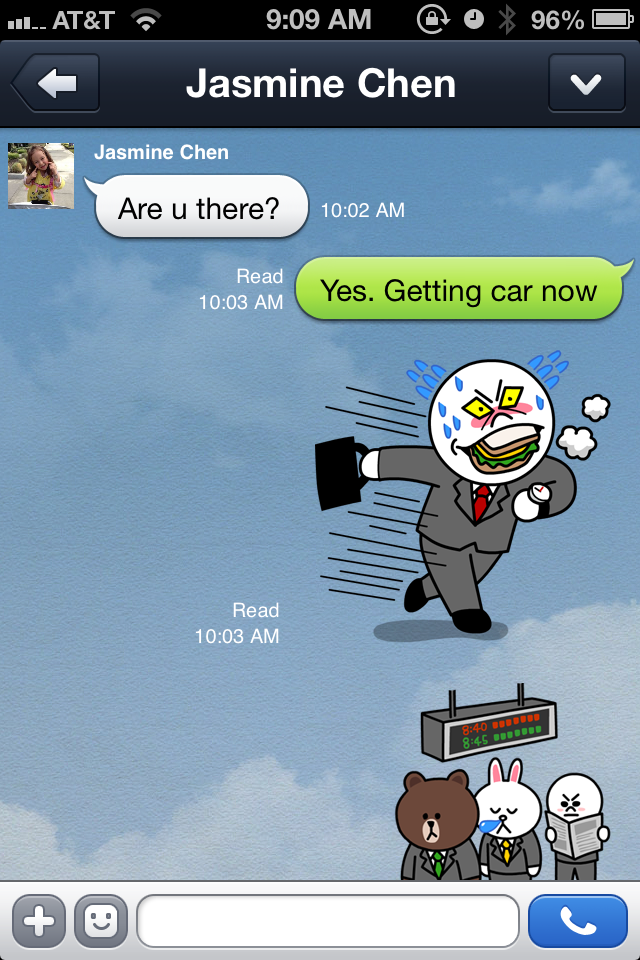 Line Sticker Example