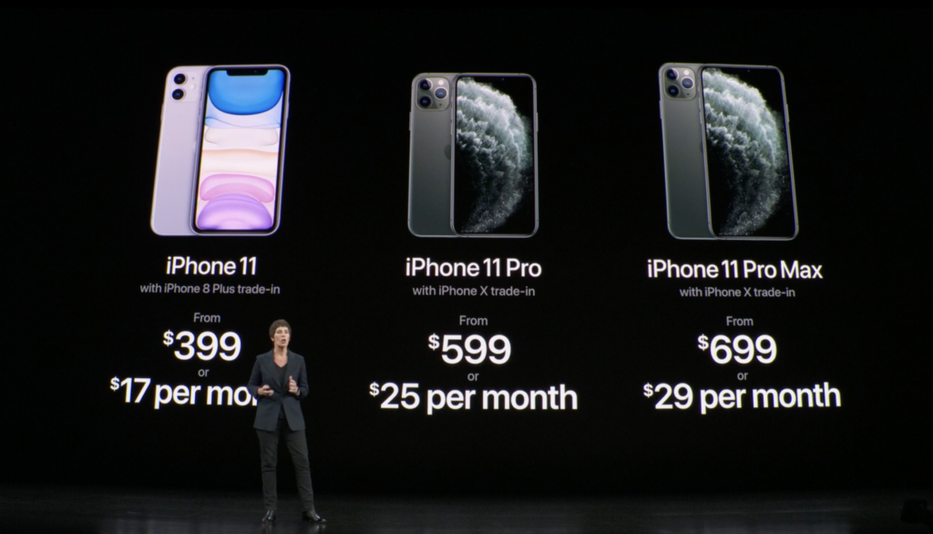 iPhone monthly pricing