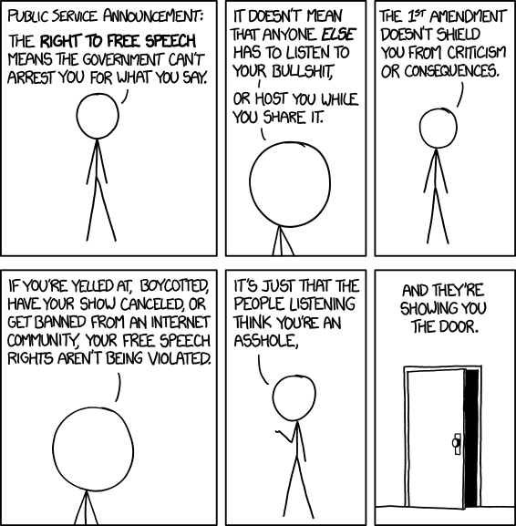Free Speech by xkcd