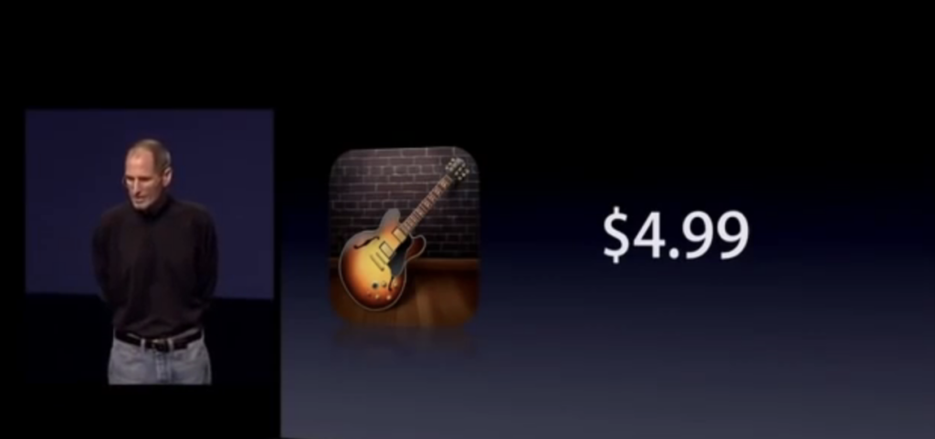 GarageBand for iPad's launch price