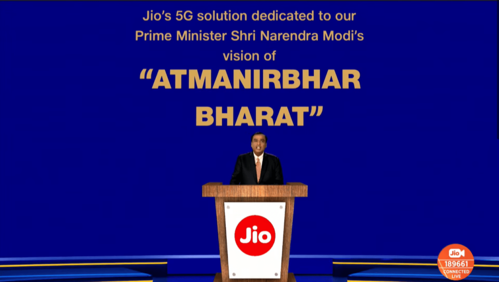 """The """"Motivations"""" slide from Reliance's Annual Global Meeting"""