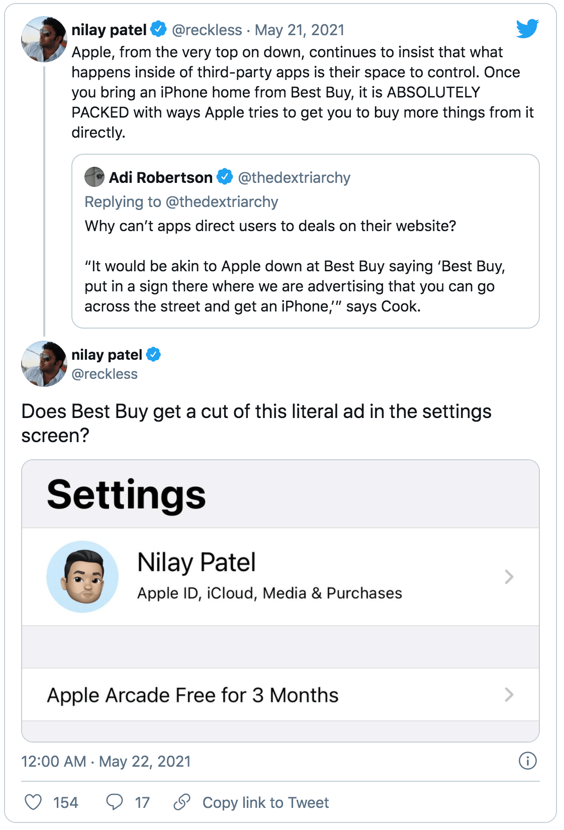 Nilay Patel refutes the Best Buy argument